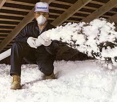 white blown insulation
