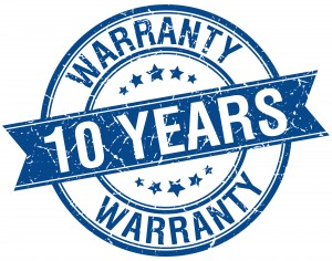 10-Year Warranty seal