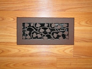 Natural design floor vent cover