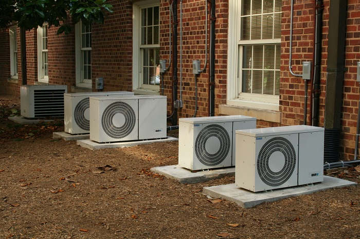 office ductless heatigng and cooling systems outside units