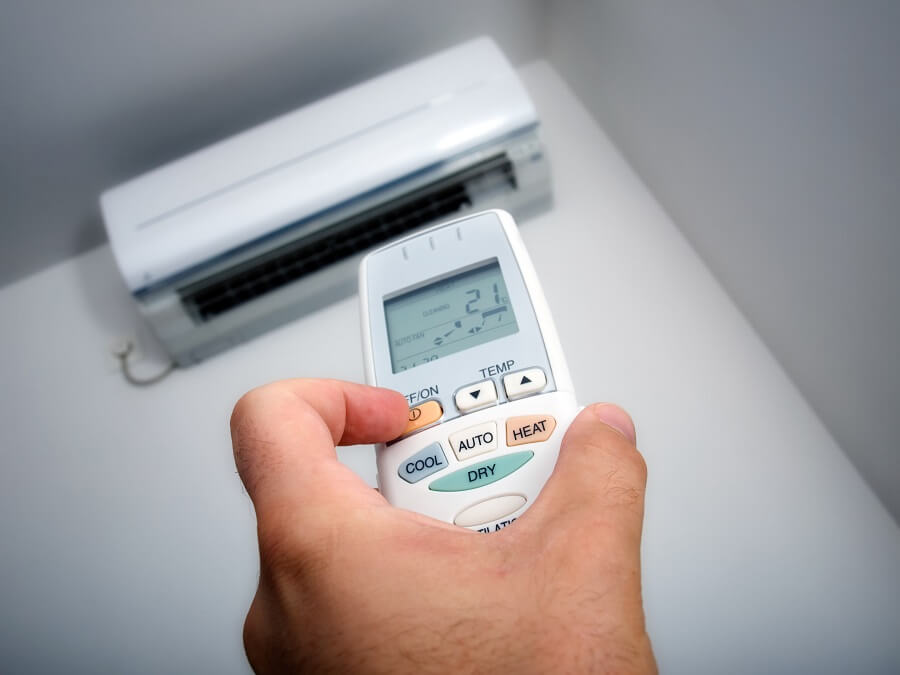ductless air conditioner remote