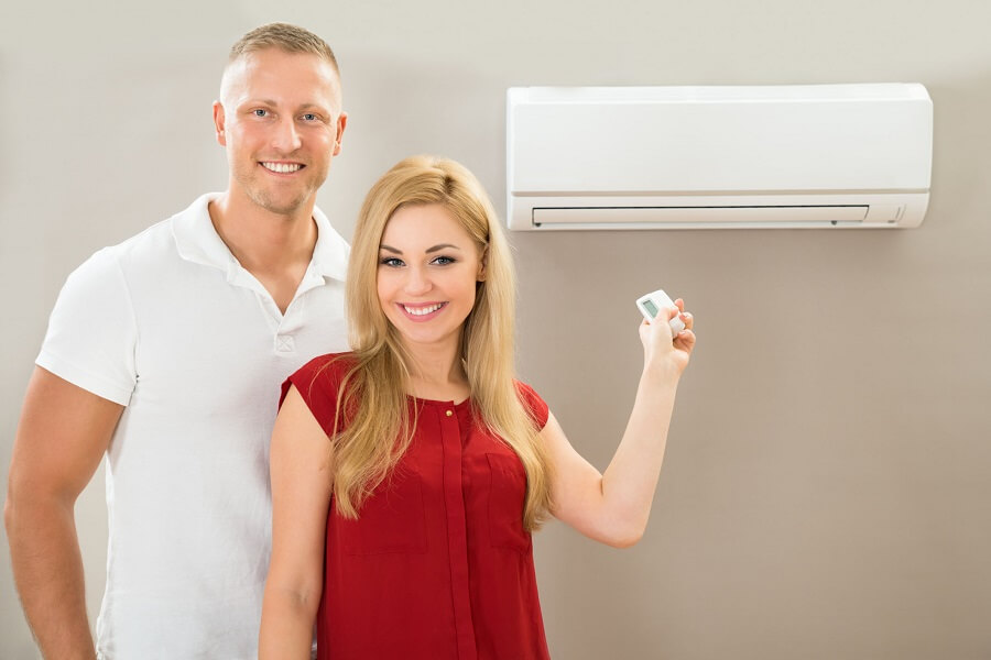 ductless air conditioner couple