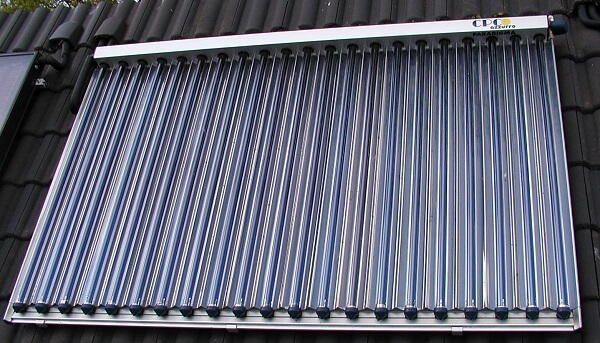 Evacuate tube collector for the solar hot water heater