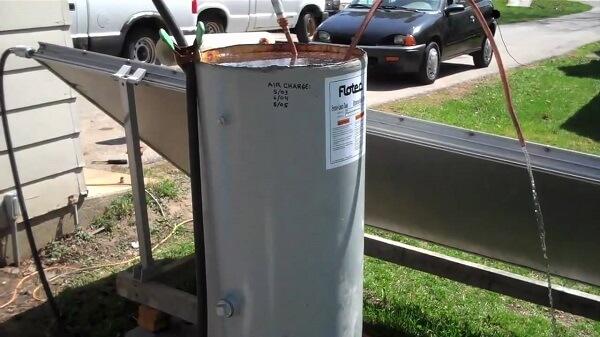 solar hot water heater tank