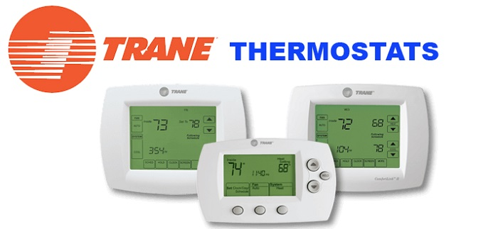 trane thermostat logo on white background