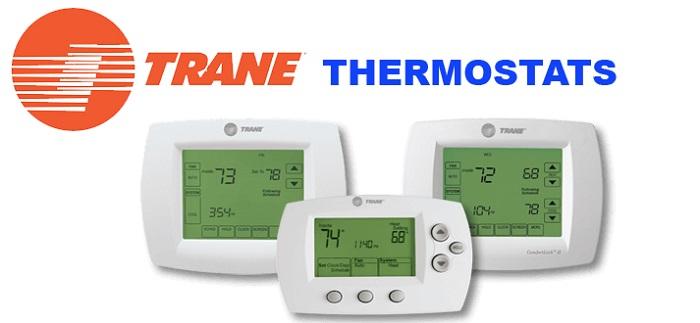 trane thermostat logo on white background