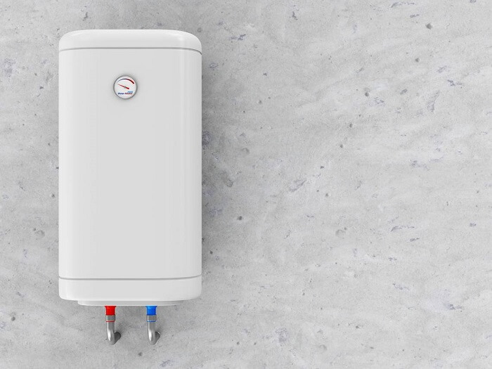 Water heater on the wall