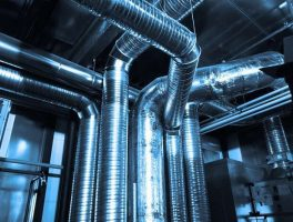 Ventilation pipes with capillary tube HVAC