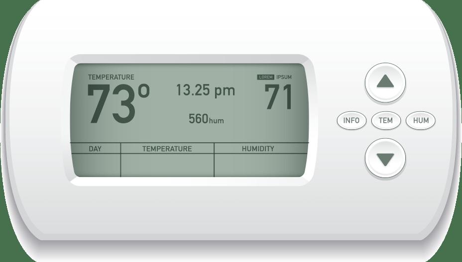 hvac control panel