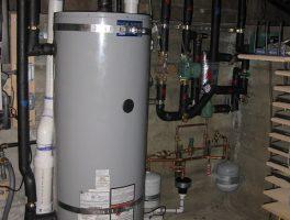 large sized grey water heater tank