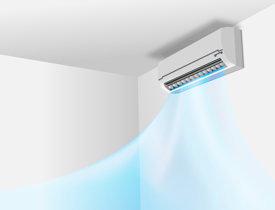 air coming outside the air conditioning unit illustration