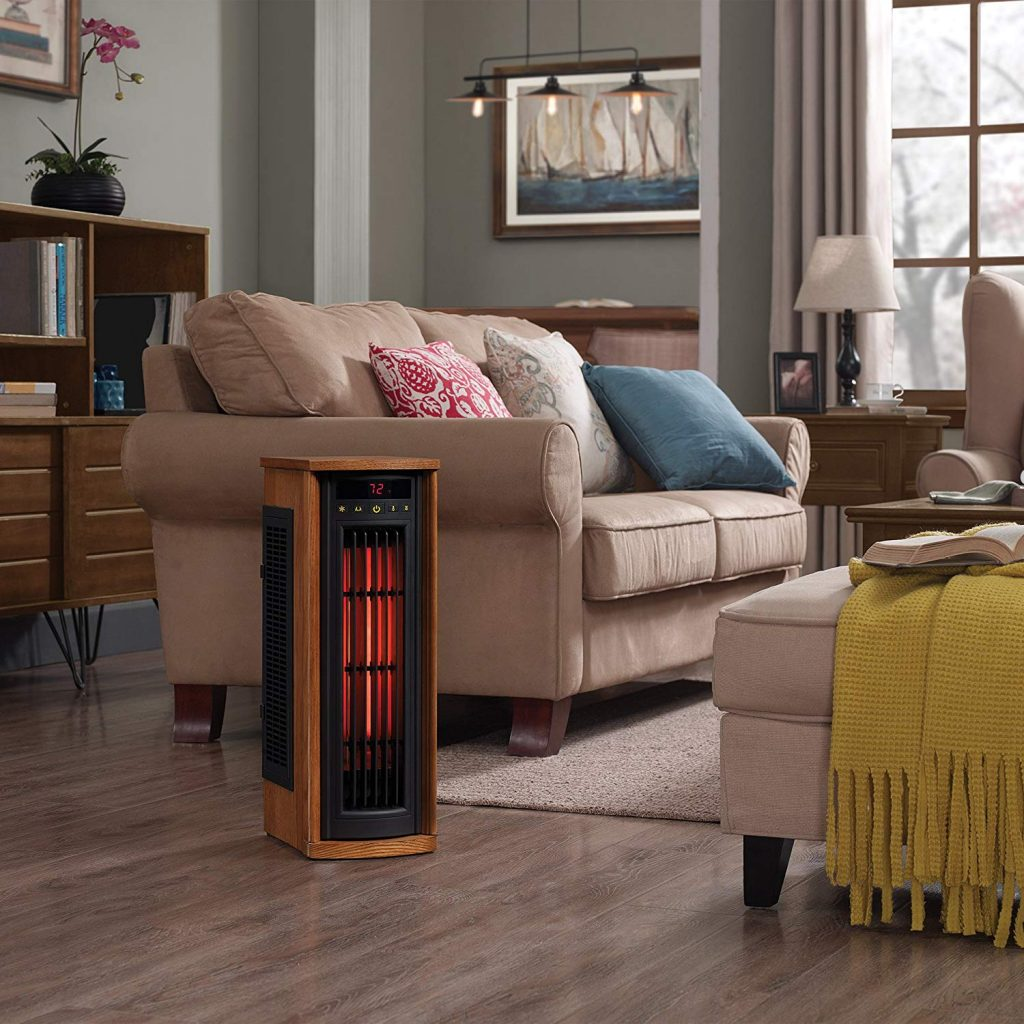 infrared heater in the living room